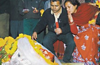 Nepalese Civil War - In the Offensive: DSP Hem Raj Regmi was shot dead by Maoists, Nov 11, 2004