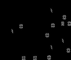 Quinupristin/dalfopristin - Quinupristin (top) and dalfopristin (bottom)