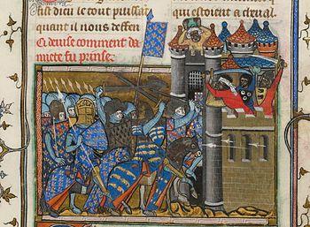 Vie de Saint-Louis by Jean de Joinville: Taking Damiette during the Crusade