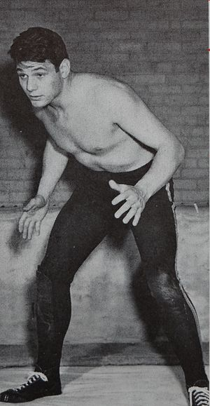Dan Dworsky - Dworsky in wrestling uniform at Michigan.