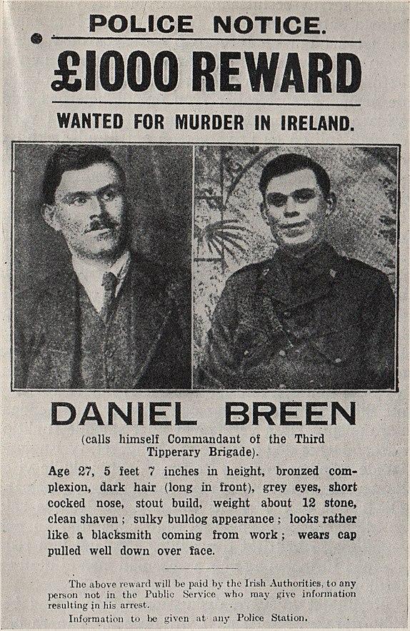 Daniel Breen police notice