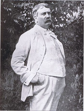 Daniel Burnham on the terrace of his Evanston,...