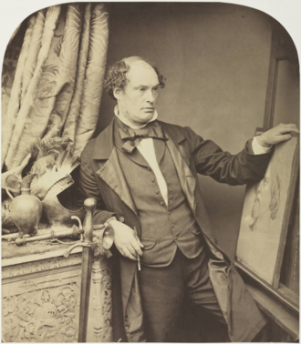 Daniel Maclise - Daniel Maclise photographed by William Lake Price