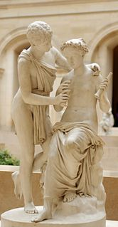 <i>Daphnis and Chloe</i> the only known work of the 2nd century AD Greek novelist and romancer Longus