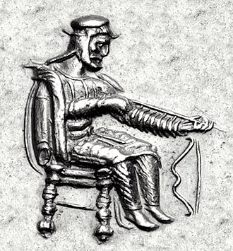 Datames - Datames as Satrap, inspecting an arrow, from his coinage.