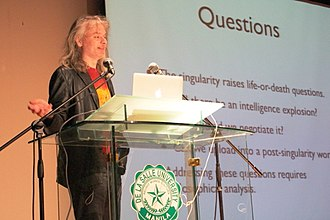 David Chalmers - Chalmers on stage for an Alan Turing Year event at De La Salle University, Manila, March 27, 2012