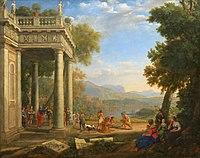 David sacré roi par le prophète Samuel - Claude Le Lorrain - Musée du Louvre INV 4717.jpg