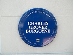 Photo of Charles Grover Burgoyne blue plaque