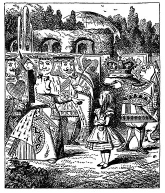 Wonderland (fictional country) - The royal garden in Wonderland