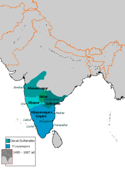 Location of Adil Shahi dynasty