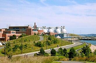 Deer Island (Massachusetts) - The Deer Island wastewater plant and surrounding park area, 2008