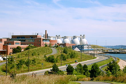 Deer Island Wastewater Treatment Plant serving Boston, Massachusetts and vicinity.