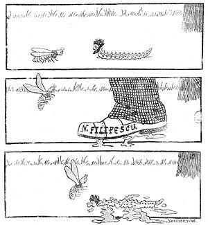 Barbu Ștefănescu Delavrancea - Cartoon targeting Barbu Ştefănescu Delavrancea.