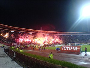 Eternal Derby (Serbia) - Image: Delije sever