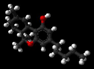 Tetrahydrocannabinol - Image: Delta 9 tetrahydrocannabinol from tosylate xtal 3D balls