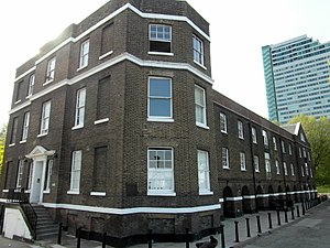 HM Victualling Yard, Deptford - Superintendent's House and riverside storehouse.