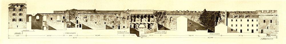 Diokletianpalast südmauer zum meer george niemann 1906
