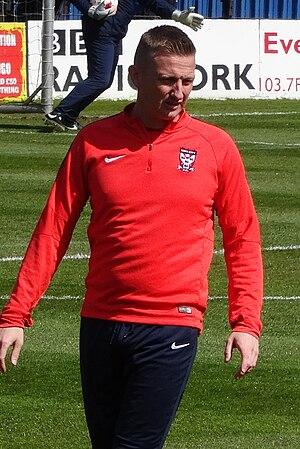 Derek Riordan - Riordan training with York City in 2016