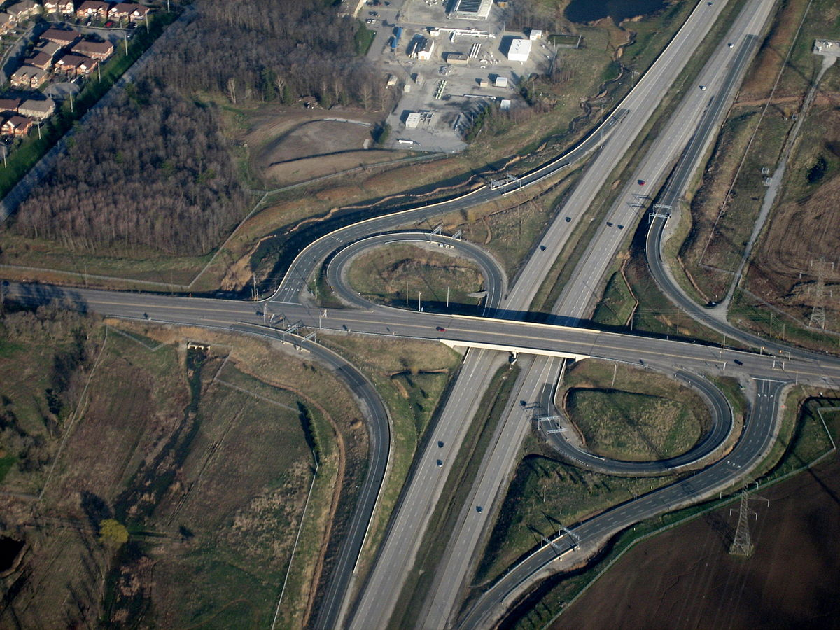 Partial cloverleaf interchange wikipedia for Protector parking carrefour