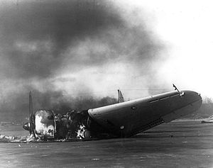 Marine Corps Air Station Ewa - Destroyed SBD from VMSB-232 at Ewa, 7 December 1941.