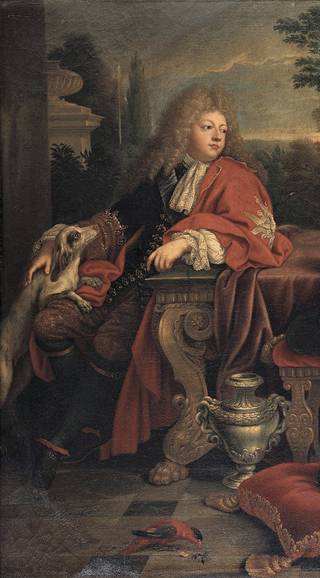 Detail of The family of the Grand Dauphin showing Louis of France by Mignard.png