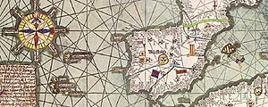 Science and technology in Spain - Excerpt from the Atlas catalán de Cresques Abraham, 1375.
