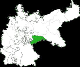Lage des Königreichs Sachsen im Deutschen Kaiserreich
