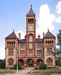 The DeWitt County Courthouse located in Cuero. The courthouse was added to the National Register of Historic Places on May 6, 1971.