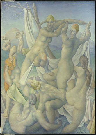 Lorser Feitelson - I. Lorser Feitelson, Diana at the Bath, 1922. Brooklyn Museum
