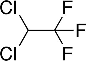 2,2-Dichloro-1,1,1-trifluoroethane - Image: Dichlorotrifluoroeth ane