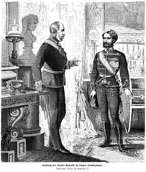 Gyula Andrássy - Andrássy in conversation with German Emperor William I, 1872