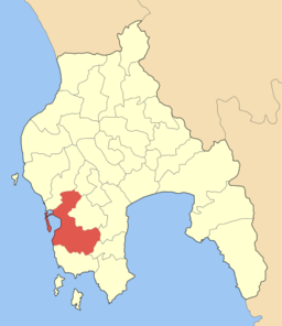 Pylos kommunes beliggenhed i Messenien.