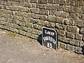 Distance marker beside the Grand Union Canal at Cowley Lock - geograph.org.uk - 1754580.jpg