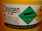 A contents label for oxygen usage
