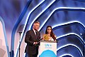 Diya Mirza and Alec Baldwin at UNEP Champions of the Earth Awards 2018.jpg