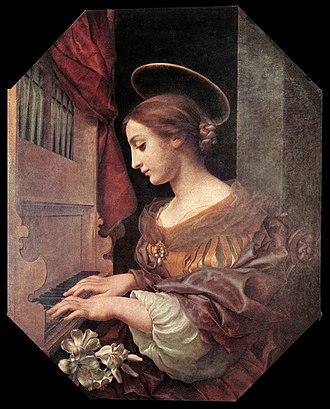 Carlo Dolci - Image: Dolci Cecilia organo
