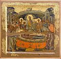 Dormition, Early XIV Century, St Nicholas Gerakomia Church, Ohrid Icon Gallery.jpg