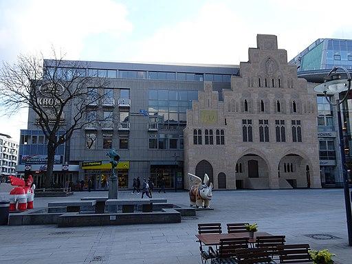 Dortmund Markt - Lage des Rathauses heute (Fotomontage)
