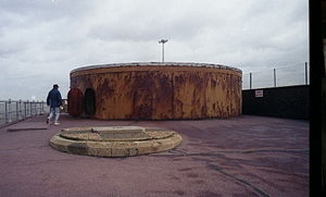 Admiralty Pier Turret - The Dover Turret Battery which still holds its armament of two 80-ton RML guns