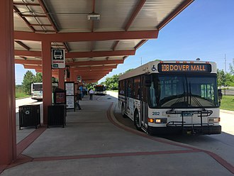 Dover, Delaware - The Dover Transit Center, which serves as the main hub for DART First State buses in Dover