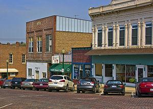Mount Carroll, Illinois - Image: Downtown Market Street MG 8159