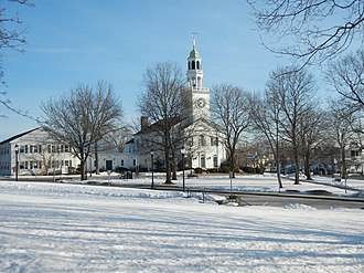 Reading, Massachusetts - Downtown Reading in the snow