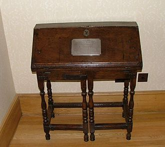 Pembroke College, Oxford - Samuel Johnson's desk, in Broadgates