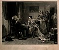 Dr Samuel Johnson reading the manuscript of Oliver Goldsmith Wellcome V0006841.jpg