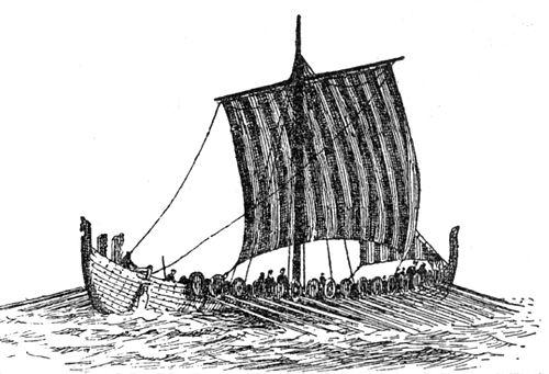 Drakkar (Larousse - detail - nave 02) A Brun