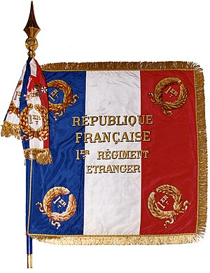 Foreign Legion Pioneers (Pionniers) - Regimental Colors of the 1st Foreign Regiment, 1e R.E