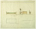 Drawing, Bed and Side Stand, Henry J. Allen Residence, Wichita, Kansas, 1917 (CH 18800327-2).jpg