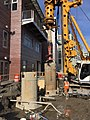 Drilling foundations for the future LIRR employee access bridge that will service the Mid-day storage yard. (CQ033, 2-13-2018) (39575447504).jpg