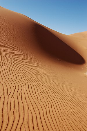 Sand dunes in Morocco