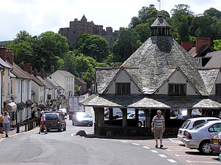 Dunster village, civil parish and former manor within the English county of Somerset